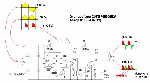 полевом транзисторе,